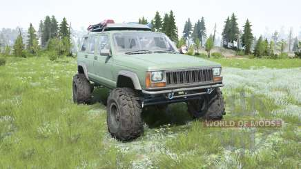 Jeep Cherokee (XJ) 1996 lifted for MudRunner