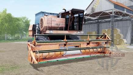 Don-1500 soft orange color for Farming Simulator 2017