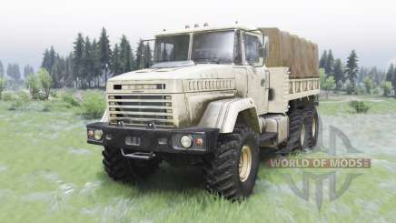 KrAZ-6322 light beige color for Spin Tires