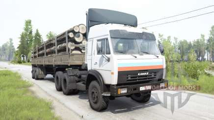 KamAZ-54115 white color for MudRunner