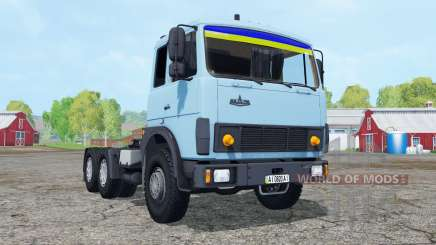 MAZ-6422 soft blue color for Farming Simulator 2015