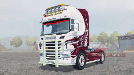 Scania R560 Topline antique ruby for Farming Simulator 2013