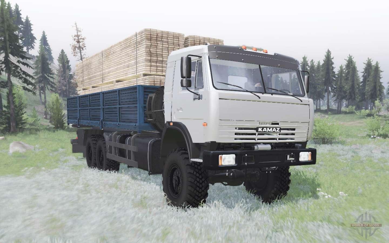 KamAZ-43115 Extended Platform For Spin Tires
