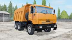 KamAZ-65115 neon carrot color for Farming Simulator 2017