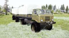 GAZ-66 articulated frame for MudRunner