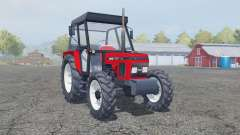 Zetor 7340 tractor red for Farming Simulator 2013