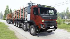 Volvo FMX 500 Day Cab 10x10 for MudRunner