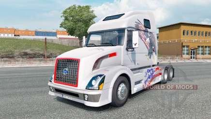 Volvo VNL 670 light gray for Euro Truck Simulator 2