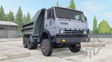 KamAZ-55111 grayish-blue color for Farming Simulator 2017