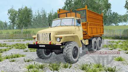 Ural-5557 soft yellow color for Farming Simulator 2015