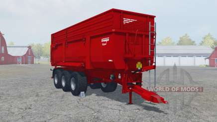 Krampe Big Body 900 S guardsman red for Farming Simulator 2013