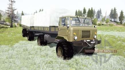 GAZ-66 articulated frame for MudRunner