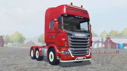 Scania R730 Topline strong red for Farming Simulator 2013