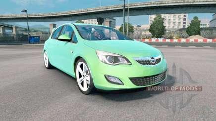 Opel Astra (J) 2010 medium spring green for Euro Truck Simulator 2