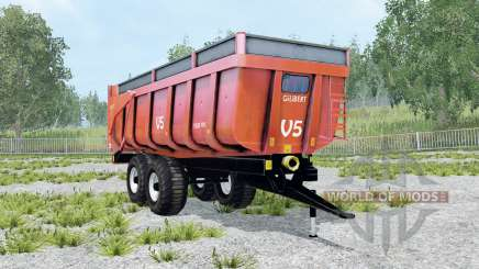 Gilibert 1800 Pro red orange for Farming Simulator 2015
