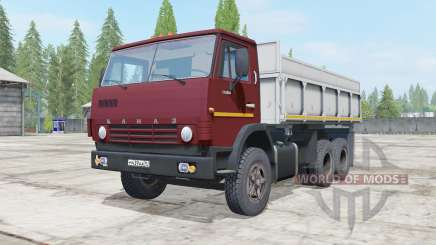 KamAZ-55102 dark red color for Farming Simulator 2017