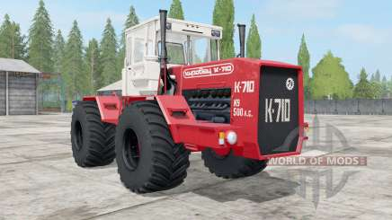 Kirovets K-710 bright red color for Farming Simulator 2017