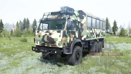 KamAZ-5350 Mustang in camouflage for MudRunner