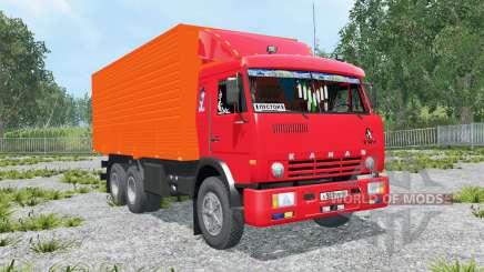 KamAZ-53212 bright red Okas for Farming Simulator 2015