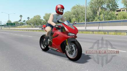 Motorcycle Traffic Pack v3.0 for American Truck Simulator