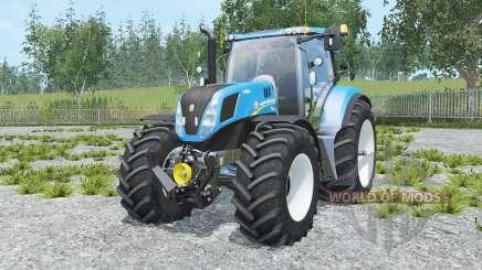 New Holland T7.240 spanish sky blue for Farming Simulator 2015