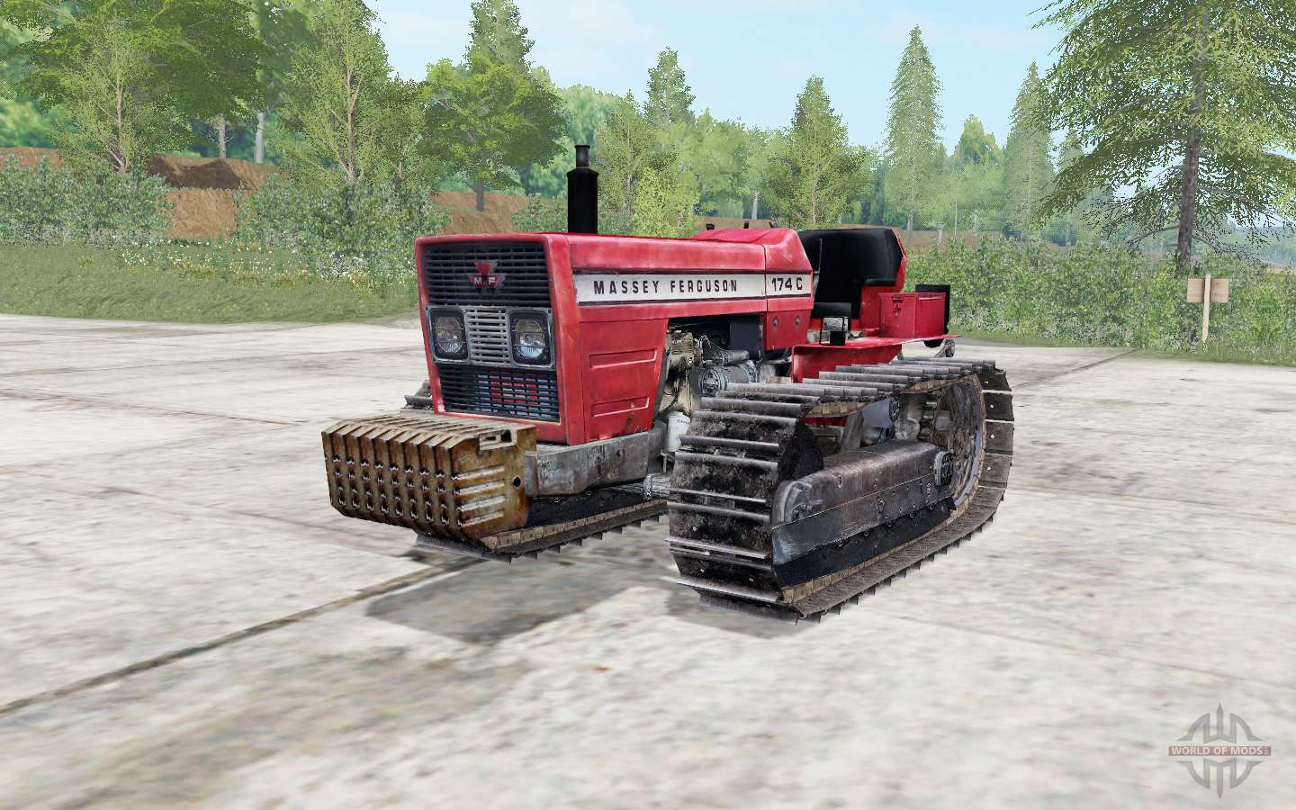 Massey Ferguson 174C Fiery Rose For Farming Simulator 2017