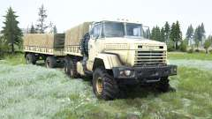 KrAZ-6322 soft yellow color for MudRunner