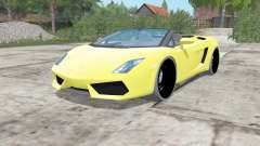 Lamborghini Gallardo LP 560-4 Spyder 2012 for Farming Simulator 2017
