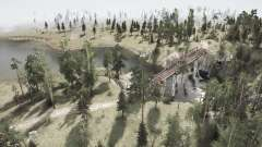 Cutting down on power lines in the Bear woods v1.2 for MudRunner