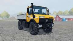 Mercedes-Benz Unimog U1450 (Br.427) vivid orange for Farming Simulator 2013