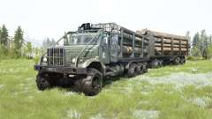 The KrAZ-255B 8x8 dark gray-green color for MudRunner