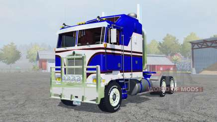 Kenworth K100 medium blue for Farming Simulator 2013