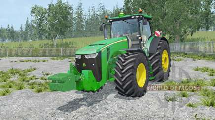 John Deere 8370R with weights for Farming Simulator 2015
