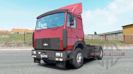 MAZ-54323 bright red color for Euro Truck Simulator 2