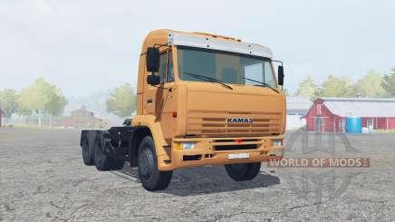 KamAZ-6460 soft orange color for Farming Simulator 2013