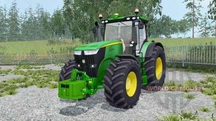 John Deere 7270R with weighƫs for Farming Simulator 2015