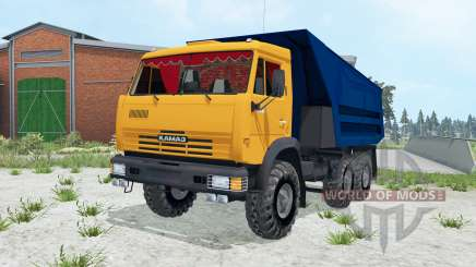 KamAZ-55111 bright orange Okas for Farming Simulator 2015