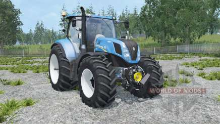New Holland T7.240 animated cabin for Farming Simulator 2015