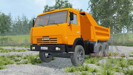 KamAZ-55111 orange color for Farming Simulator 2015