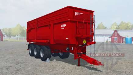 Krampe Big Body 900 S boston university red for Farming Simulator 2013