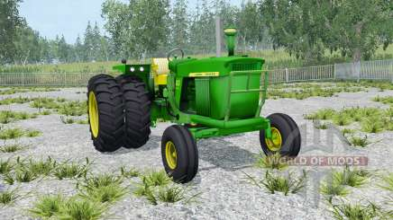 John Deere 4020 double wheels for Farming Simulator 2015