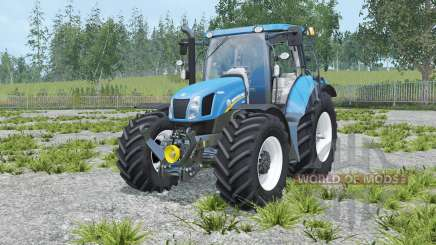 New Holland T6.160 rich electric blue for Farming Simulator 2015