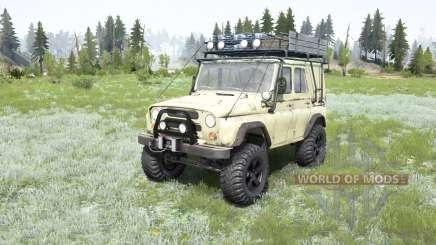 UAZ-469 soft-yellow color for MudRunner
