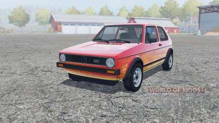 Volkswagen Golf GTI 3-door (Typ 17) 1976 for Farming Simulator 2013