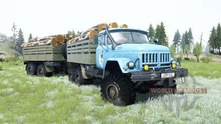 ZIL-131 is a soft blue color for MudRunner