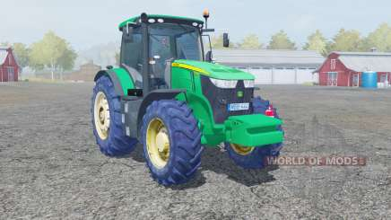 John Deere 7280R caribbean green for Farming Simulator 2013