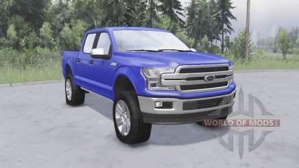 Ford F-150 Lariat SuperCrew 2018 for Spin Tires