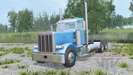 Peterbilt 379 Day Cab spanish sky blue for Farming Simulator 2015