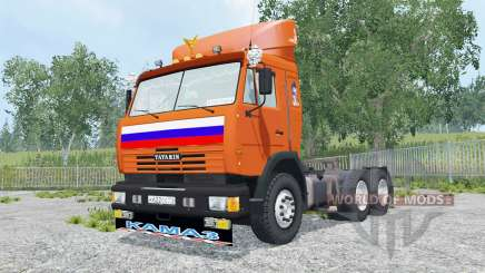 KamAZ-54115 bright orange color for Farming Simulator 2015
