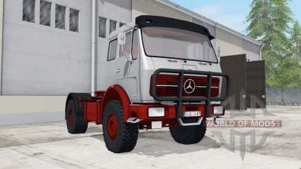 Mercedes-Benz NG 1632 with tipper trailer for Farming Simulator 2017